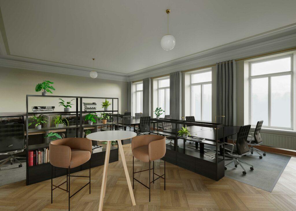 Erottaja2 mallinnuskuva: toimistotila